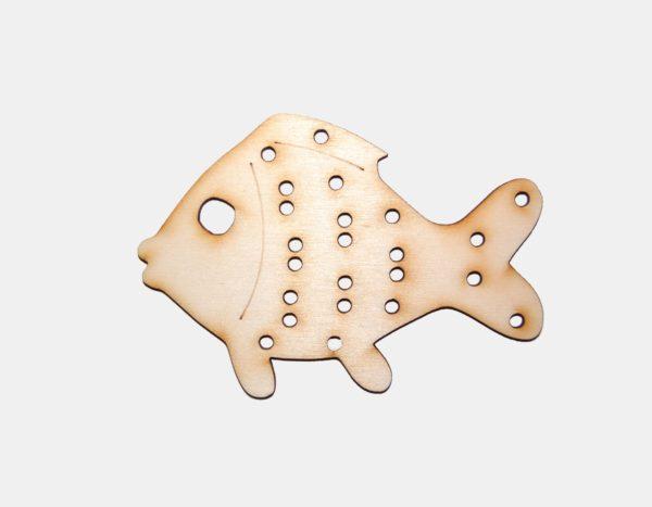 kreativní materiál na výrobu ryby