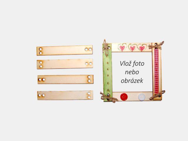 dřevěný rámeček na výrobu obrázku