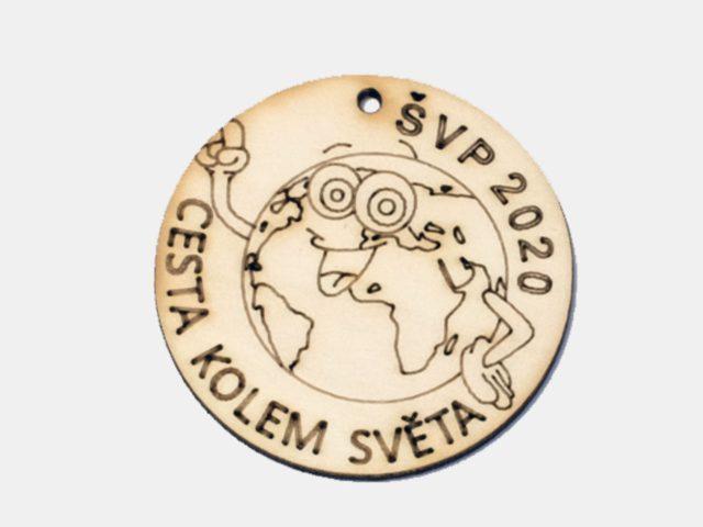 dřevěná medaile