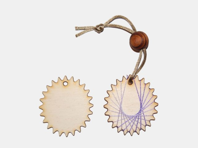 dřevěná ozdoba, komponent k výrobě náhrdelníku