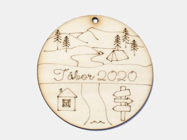 dřevěná medaile a ocenění